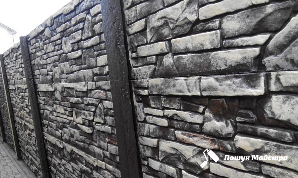 Бетонный забор Львов | Декоративная ограда, цена