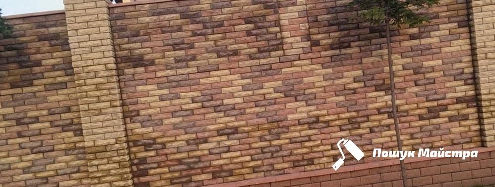 Кирпичные заборы Львов | Цена строительства, отзывы, гарантия