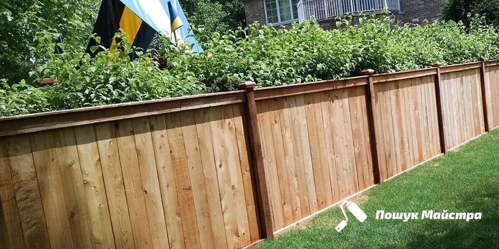 Деревянная ограда Львов | Цена монтажа из дерева