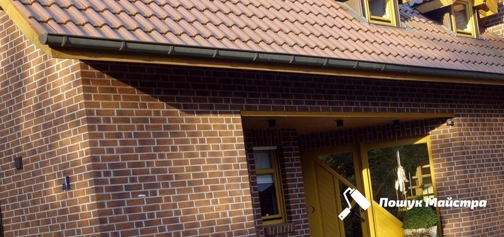 Клинкерная фасадная плитка Львов   цена облицовки