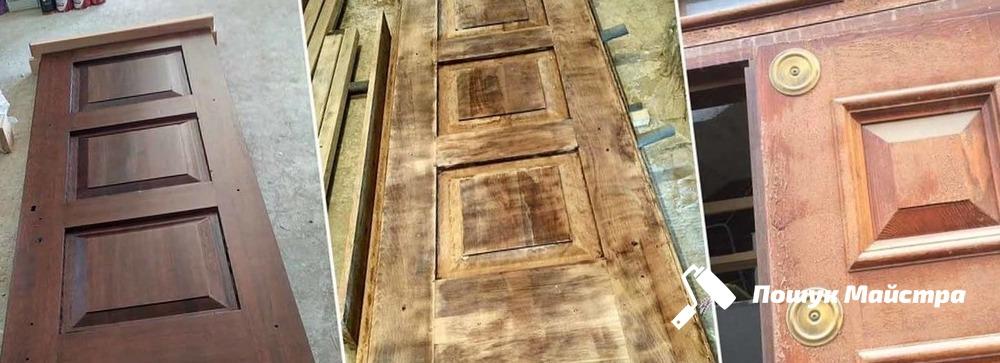 Основная технология реставрации деревянных дверей