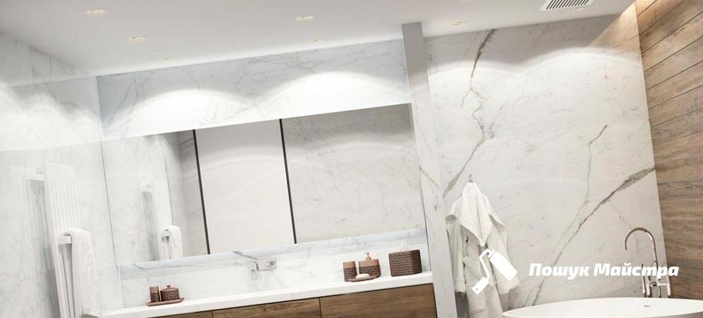 Дизайн ванної кімнати Львів - ціна на інтер'єр ванни