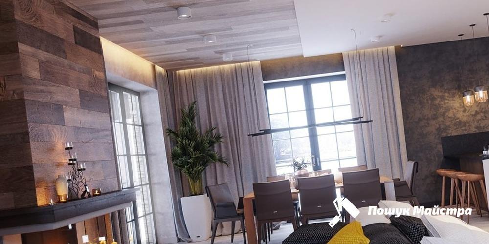 Дизайн гостиной Львов – цена на интерьер гостиной