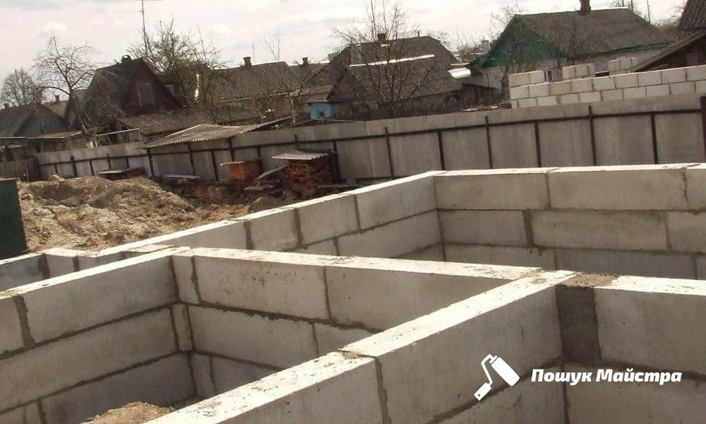 Бетонные фундаментные блоки | Цены во Львове